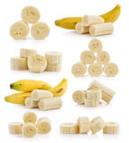 Slice banana Stock Photos