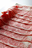 Slice of beef. On the dish Stock Image
