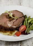 Slice Of Beef Roast Royalty Free Stock Images