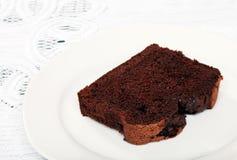 Slice of belgium chocolate cake Stock Photo