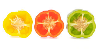 Slice bell pepper Stock Photos