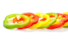 Slice Bell Pepper. Raw food Stock Photos