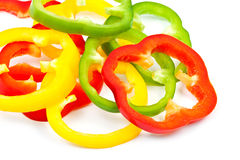 Slice Bell Pepper. Raw food stock photo