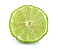 Slice bergamot on white background Stock Image