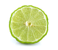 Slice bergamot on white background. Slice bergamot on a white background stock image