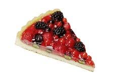 Slice of berry fruit tart stock photo