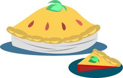 Slice of Berry Pie. Here is a whole and slice of Berry Pie royalty free illustration