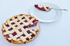 A slice of berry pie. Stock Photography