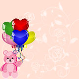 Slice Of Birthday Balloons Royalty Free Stock Image