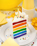 Slice of Birthday Cake Royalty Free Stock Images