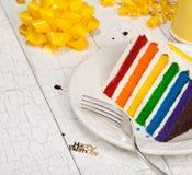 Slice of Birthday Cake Stock Photo