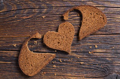 Slice of black bread Royalty Free Stock Images