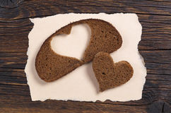 Slice of black bread Stock Photo