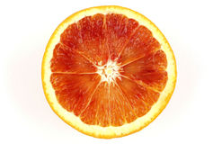Slice of blood orange Royalty Free Stock Images