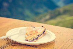 Slice of blueberry pie. Royalty Free Stock Photos