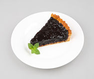 Slice of blueberry tart Stock Photography