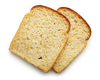 Slice of bread. Isolated on white background Stock Photo