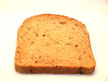Slice of bread. Piece of brown bread for breakfast toast royalty free stock images