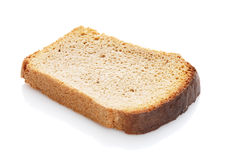 Slice of bread. On a white background Royalty Free Stock Photos