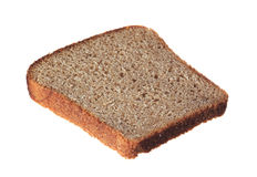 Slice of bread. On white background Stock Photo