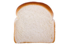 Slice of Bread. Slice of white bread isolated on a white background Stock Photography