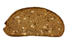 Slice of bread. Isolated on white background Stock Images