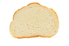 Slice of bread. Isolated on white background Stock Photos