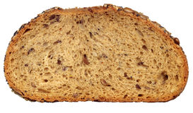 Slice of bread. Slice of fresh wholemeal bread. Detailed bread texture Royalty Free Stock Photos