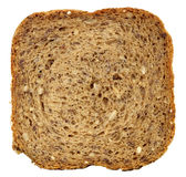 Slice of bread. Square slice of fresh wholemeal bread. Detailed bread texture Stock Image