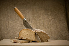 A slice of bread with butter Royalty Free Stock Photography