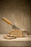 A slice of bread with butter Stock Photography