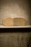A slice of bread with butter Royalty Free Stock Images