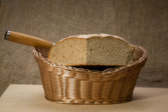 A slice of bread with butter Royalty Free Stock Image