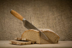 A slice of bread with butter Stock Image