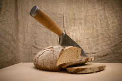 A slice of bread with butter Royalty Free Stock Photo