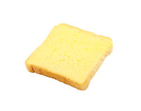 Slice of bread with butter isolated Royalty Free Stock Photos