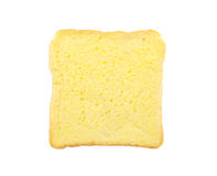 Slice of bread with butter isolated Royalty Free Stock Photo