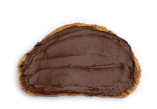Slice of bread with chocolate spread Royalty Free Stock Image