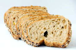 Slice bread. Close up of slice bread royalty free stock photo