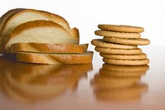 Slice bread and cookies_1 Stock Photos