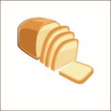 Slice of Bread in  doodle style Stock Photo