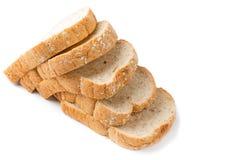Slice bread grains. On white background Royalty Free Stock Photos