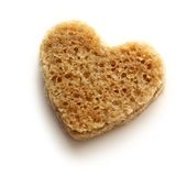 Slice of bread in heart Stock Image