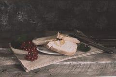 Slice of bread with honey stock photo