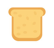 Slice of  bread icon. Flat design, isolated on white background. Vector illustration, clip art Royalty Free Stock Photo