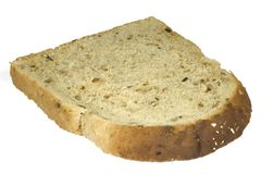 Slice of Bread Isolated with clipping path Royalty Free Stock Images