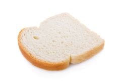 Slice of bread isolated on white Stock Images