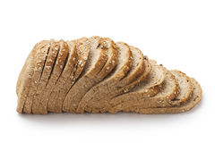 Slice of bread. Isolated on white background Royalty Free Stock Photos