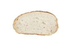 Slice of bread isolated on white. Stock Photo