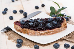 Slice of Bread with Jam stock image